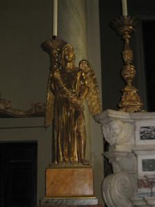 michael beeldje kerk San Michael Volterra